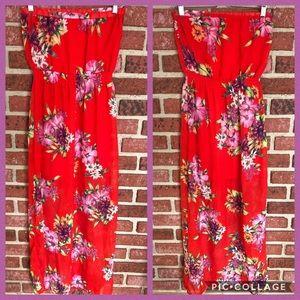 Floral Maxi Dress (M)